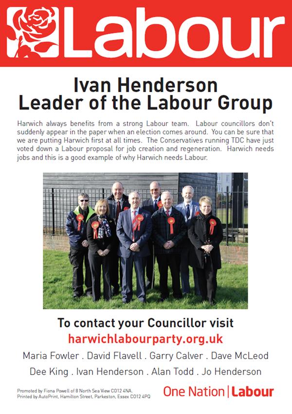 Labour councillors Leaflet  Side 1 600