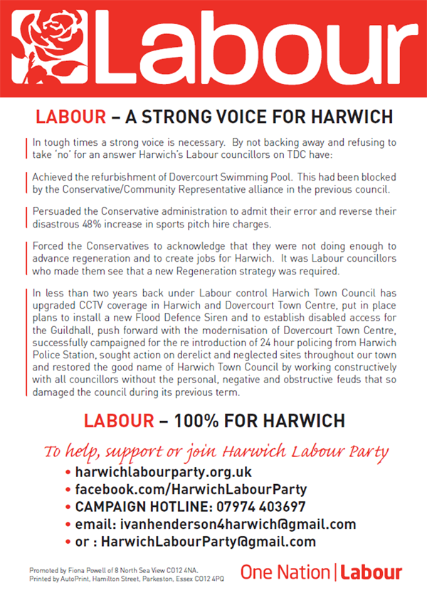 Labour councillors Leaflet Side 2 600